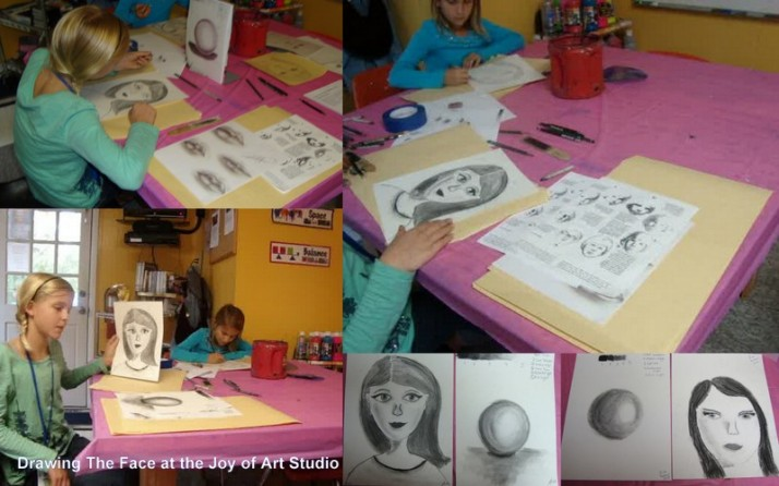 Drawing the Face at the Joy of Art Studio