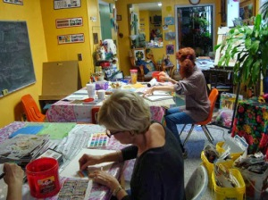 Creating at the Joy of Art Studio
