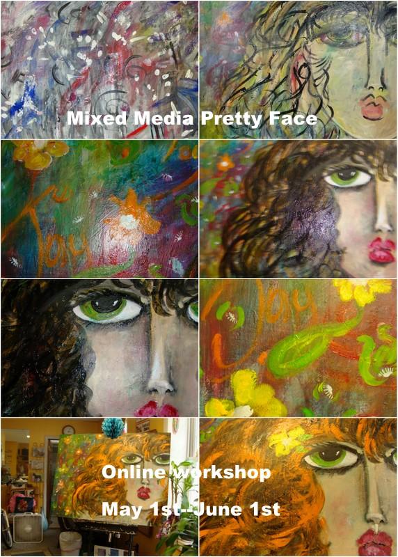Mixed Media Pretty Face